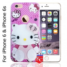 b81a302d24 KC Mirror Kitten Girl with Diamonds Studs Back Cover for Apple iPhone 6 &  6s -
