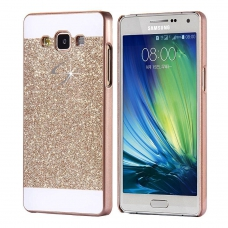 Thin Glitter Shiny Crystal Bling Hard Back Cover For Galaxy J7 2016 - Gold